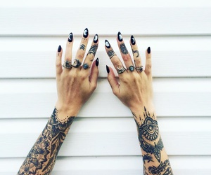 tattoo, rings, and grunge image
