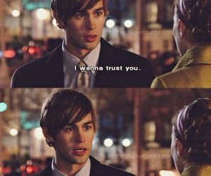 gossip girl, quote, and trust image