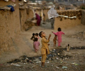 child, happy, and kite image