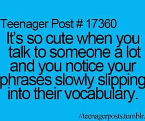 teenager post, quote, and vocabulary image