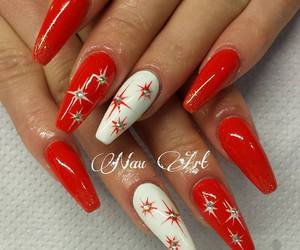 christmas, manicure, and nail art image