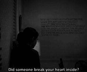 black and white, break, and heart image