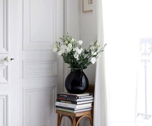 flowers, interior, and white image