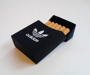 adidas, cigarette, and smoke image
