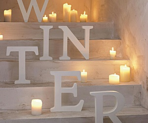 winter, candle, and christmas image