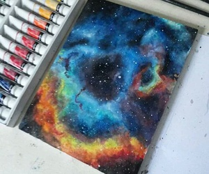 drawing, art, and galaxy image