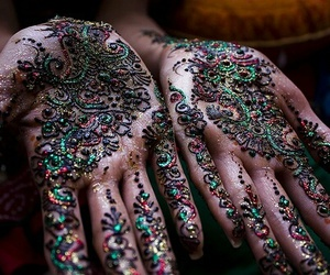 hands, henna, and art image