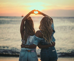 beach, friendship, and friends image