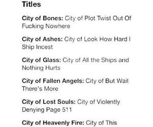 book, the mortal instruments, and city of bones image