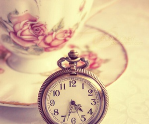 clock, tea, and time image