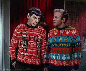 star trek, TOS, and christmas sweaters image