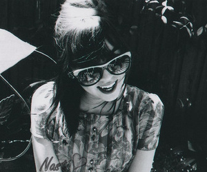 girl, black and white, and vintage image