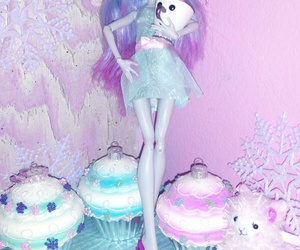 blue, cupcakes, and doll image