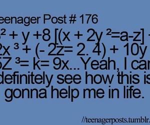 teenager post, math, and funny image