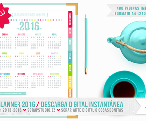 2016, planner, and printable image