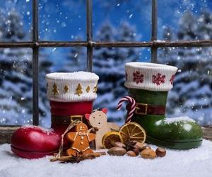 boots, christmas, and holiday image