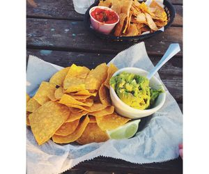 food, chips, and drink image