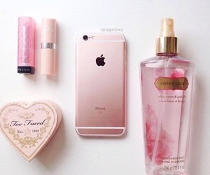 iphone, pink, and lipstick image