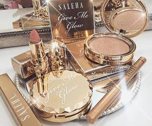 makeup, cosmetics, and gold image