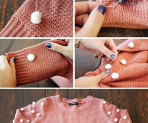 diy, sweater, and pink image
