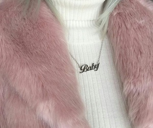 pink, baby, and necklace image