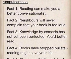books, reading, and facts image