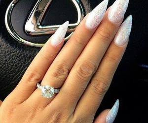 nails, ring, and luxury image