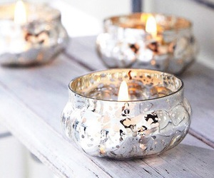candle, light, and silver image