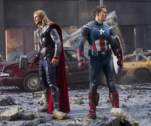 thor, Avengers, and captain america image