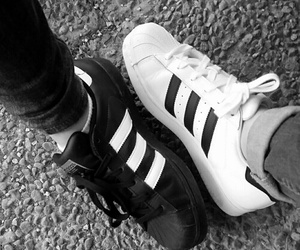 girl, adidas, and black image