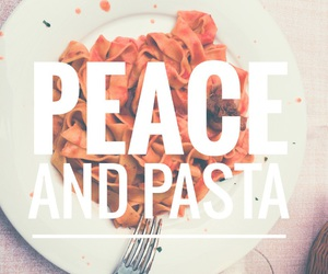 pasta, food, and peace image