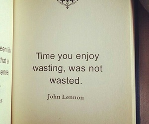 quotes, time, and john lennon image
