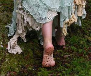 dress, vintage, and feet image