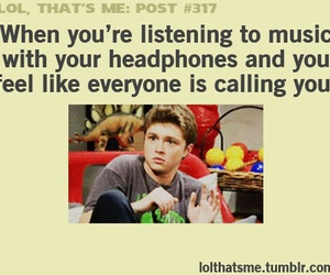 music, headphones, and funny image