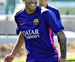 smile, neymar, and fcb image