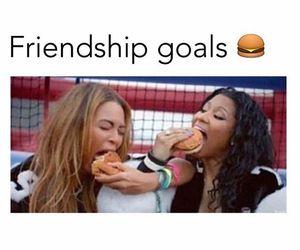 best friends, friendship, and beyoncé image