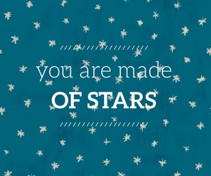 blue, quotes, and stars image