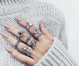 nails, fashion, and rings image