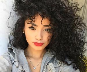 beauty, curly hair, and girls image