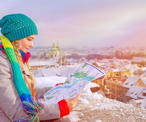 destinations, snow, and travel image