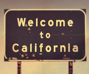 california, welcome, and usa image