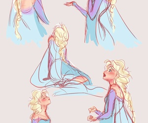 disney, drawing, and frozen image