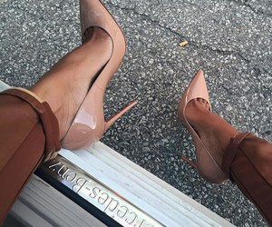 car, fashion, and heels image