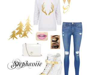 christmas, gold, and Polyvore image