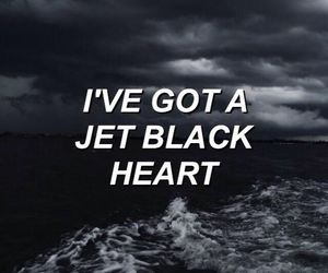 5sos, jet black heart, and black image