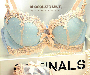 bra, lingerie, and blue image
