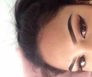 girl, eyebrows, and style image