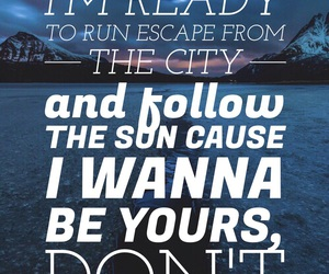 Lyrics, quote, and wallpaper image