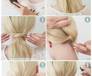 diy, hairstyle, and quick image