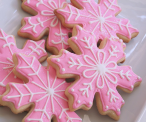pink, Cookies, and christmas image